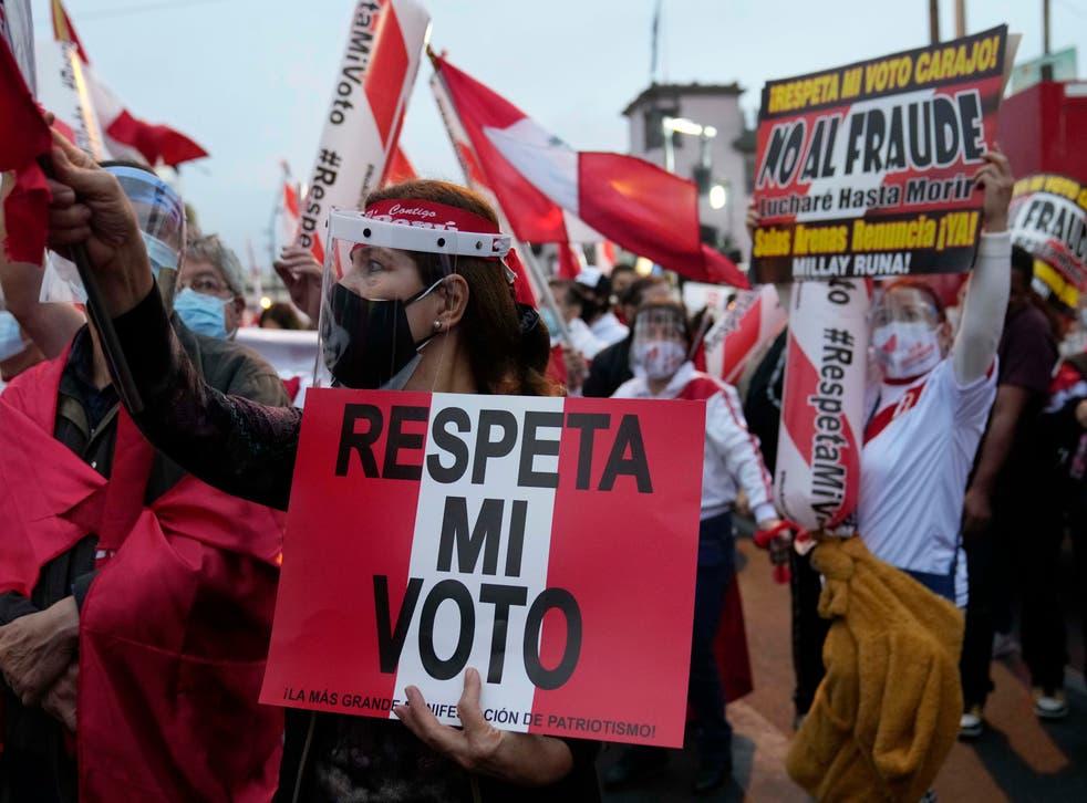 PERU-ELECCIONES MARCHA