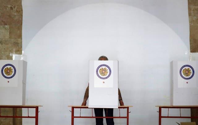 APTOPIX Armenia Election Campaign