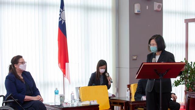 Virus Outbreak Taiwan US Vaccine