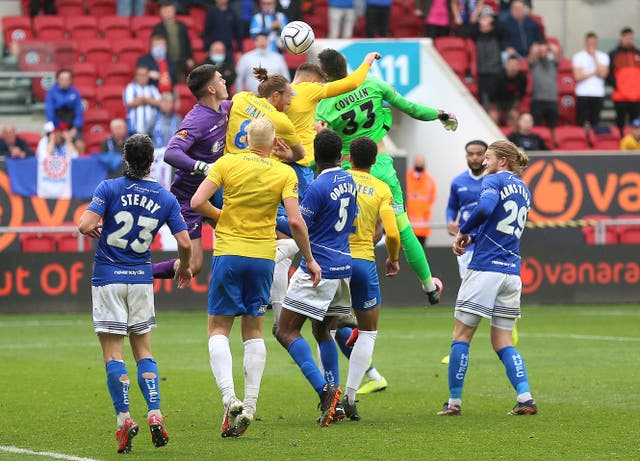 Torquay goalkeeper Lucas Covolan scored a late equaliser in stoppage time at Ashton Gate