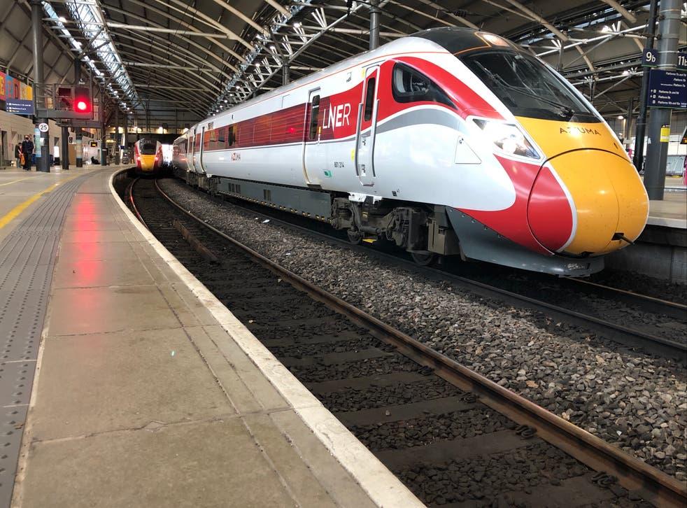 <p>Seasons greetings: LNER trains at Leeds station</p>