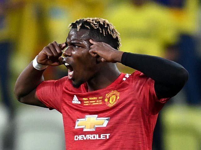 <p>Paul Pogba in action</p>