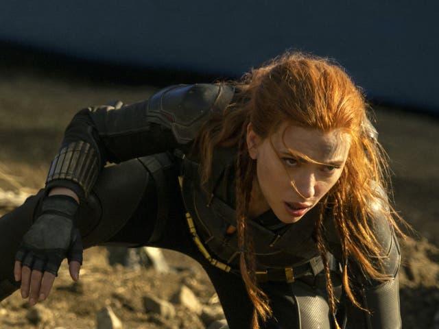 <p>Scarlett Johansson as Natasha Romanoff in Black Widow</p>