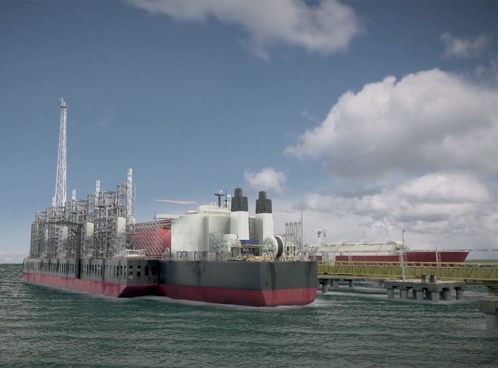 <p>Artist's impression of Greater Tortue Ahmeyim gas project in west Africa</p>
