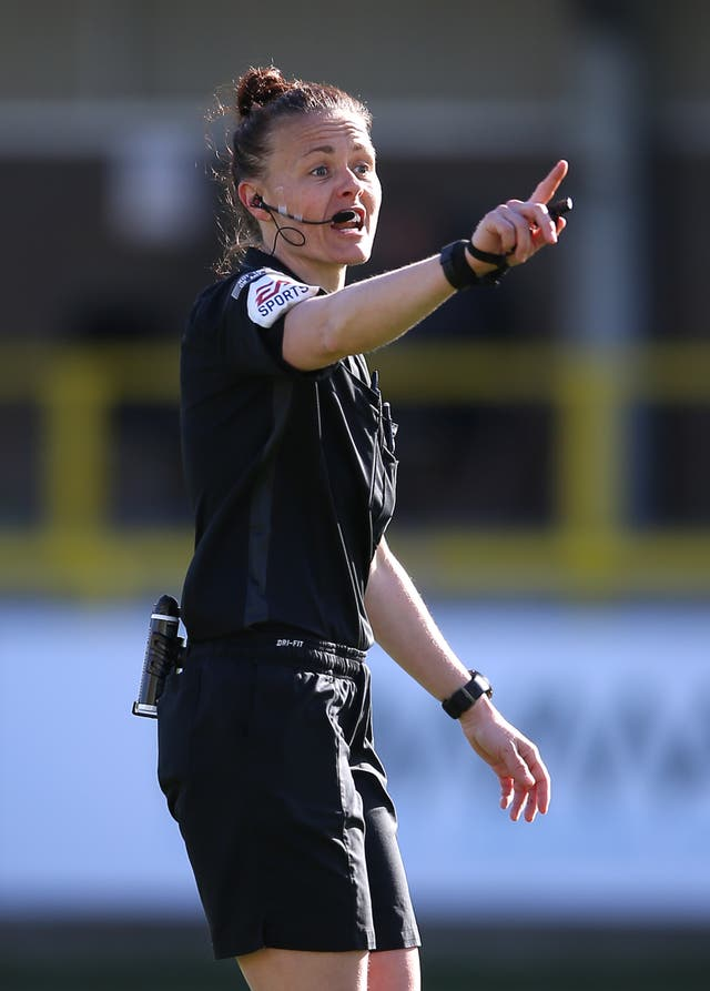 Rebecca Welch was the first female referee to be appointed to officiate an EFL game in April