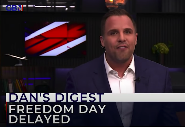 <p>Dan Wootton, presenting GB News' nightly prime time programme, was hired from The Sun </p>
