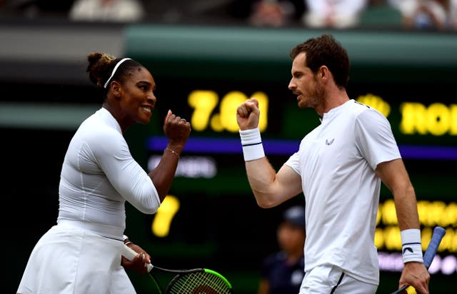 <p>Andy Murray and Serena Williams reached the third round of the mixed doubles in 2019</p>