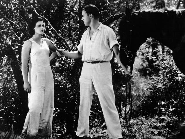 <p>Hedy Lamarr and Aribert Mog on the set of 'Ecstasy'</p>