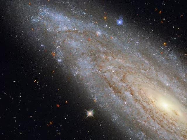 <p>NGC 3254, una galaxia Seyfert a 118 millones de años luz de la Tierra. La imagen fue capturada por el telescopio espacial Hubble de la NASA.</p>