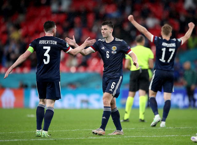 Scotland drew at Wembley