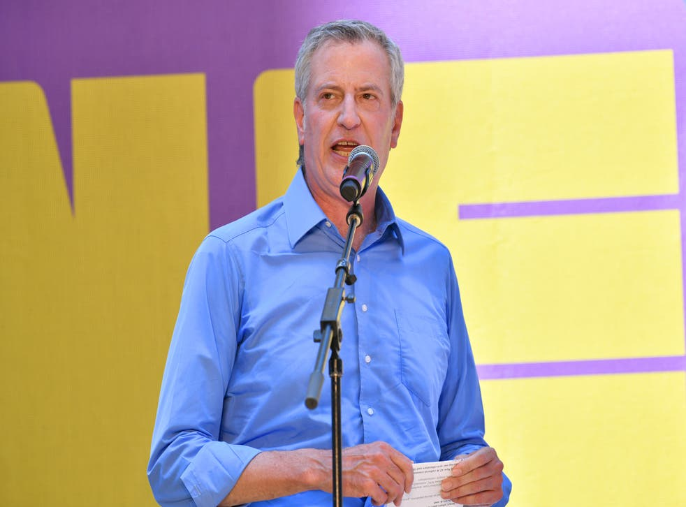 <p>FILE: Mayor Bill de Blasio has asked New Yorkers to not from Amazon and instead buy from local stores</p>