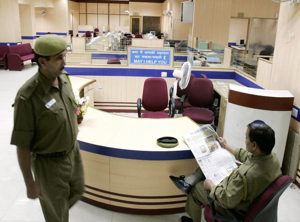 <p>Representative image: A government bank in India. The robbery took place in Union Bank of India in Delhi on Sunday</p>