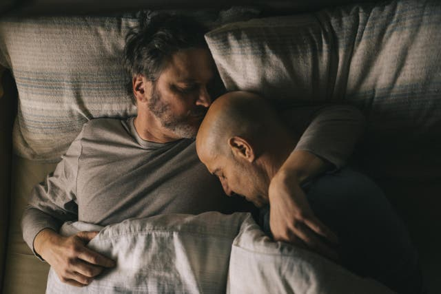 <p>Colin Firth as Sam and Stanley Tucci as Tusker in Supernova</p>