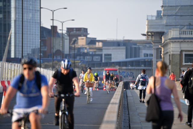 <p>The IPPR recommends that town and city centres aim to be car-free by 2030, reallocating road space for walking and cycling</p>