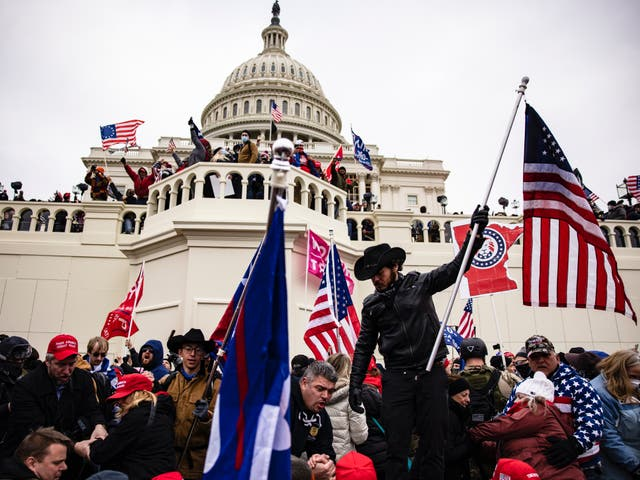 <p>Five people died in the Capitol riot back in January</p>