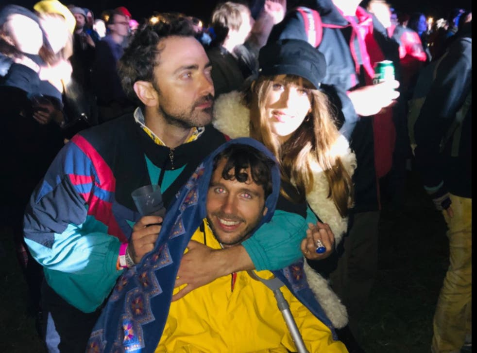 <p>Head of Culture Patrick Smith with friends at End of the Road festival in 2019</p>