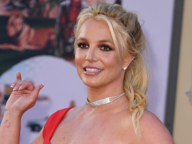 <p>Britney Spears en el estreno de 'Érase una vez ... en Hollywood' el 22 de julio de 2019 en Hollywood, California</p>