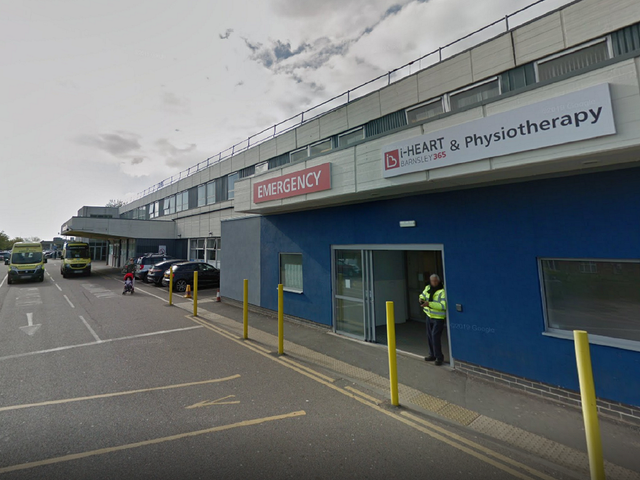 """<p>Barnsley Hospital has issued a """"black alert"""" status as numbers arriving at its A&E department top 300 per day</p>"""