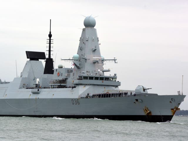 <p>Russian forces claimed to have fired warning shots at the Royal Navy destroyer HMS Defender in the Black Sea</p>