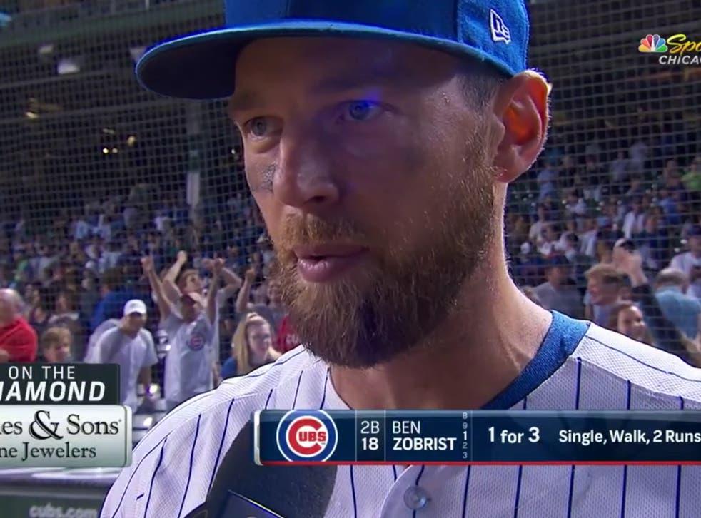 <p>Former Chicago Cubs star Ben Zobrist</p>