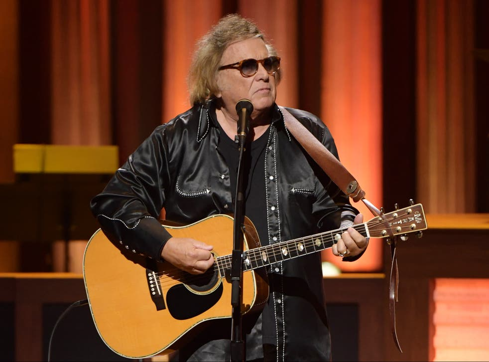 <p>Don McLean performs at the Grand Ole Opry in Nashville, Tennessee, on 5 February 2020</p>