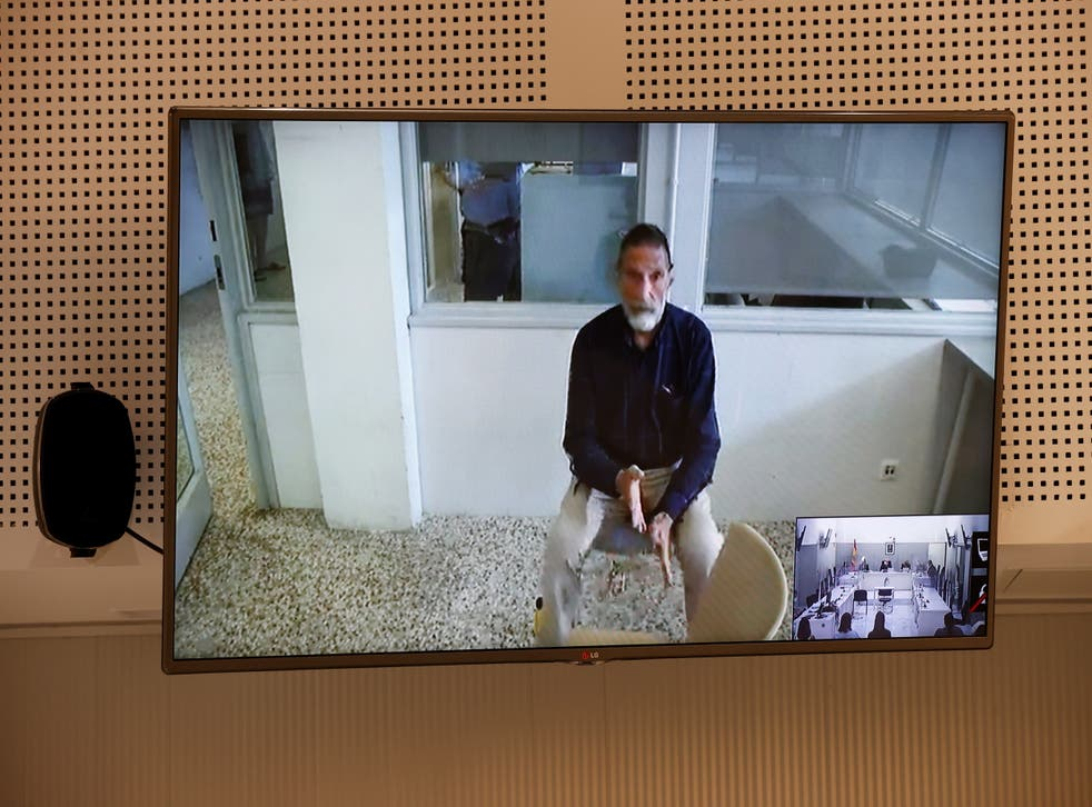 <p>John McAfee, creator of the famous commercial antivirus software McAfee, appears via videoconference during his extradition hearing at Audiencia Nacional court, in Madrid, Spain</p>