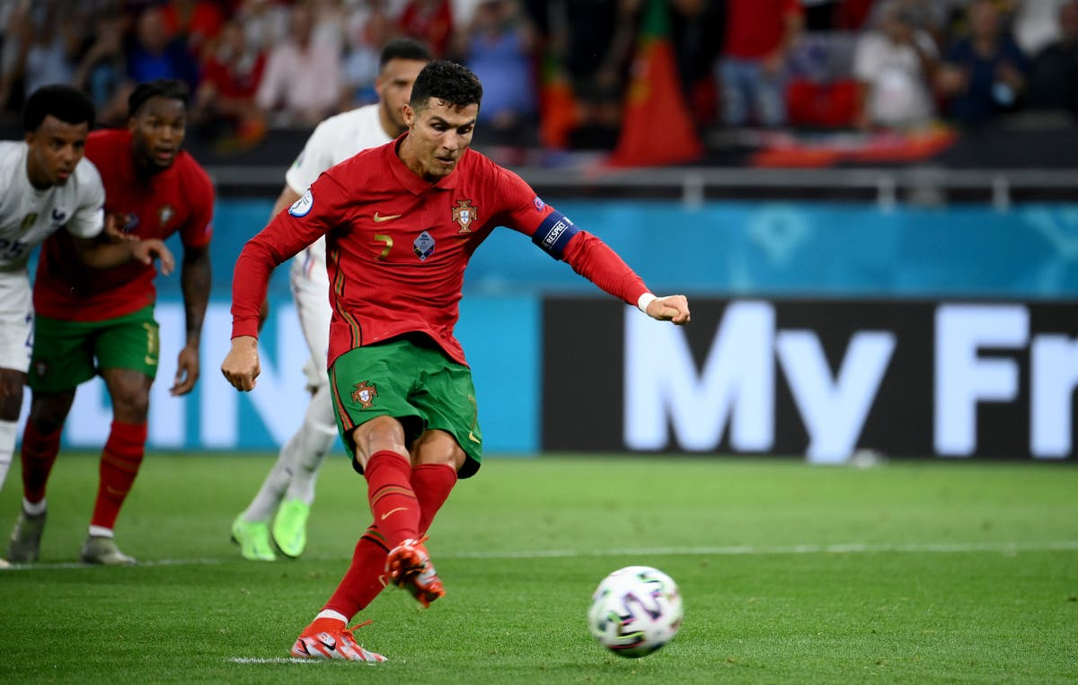 Euro 2020: Cristiano Ronaldo equals world record with Portugal brace  against France | The Independent