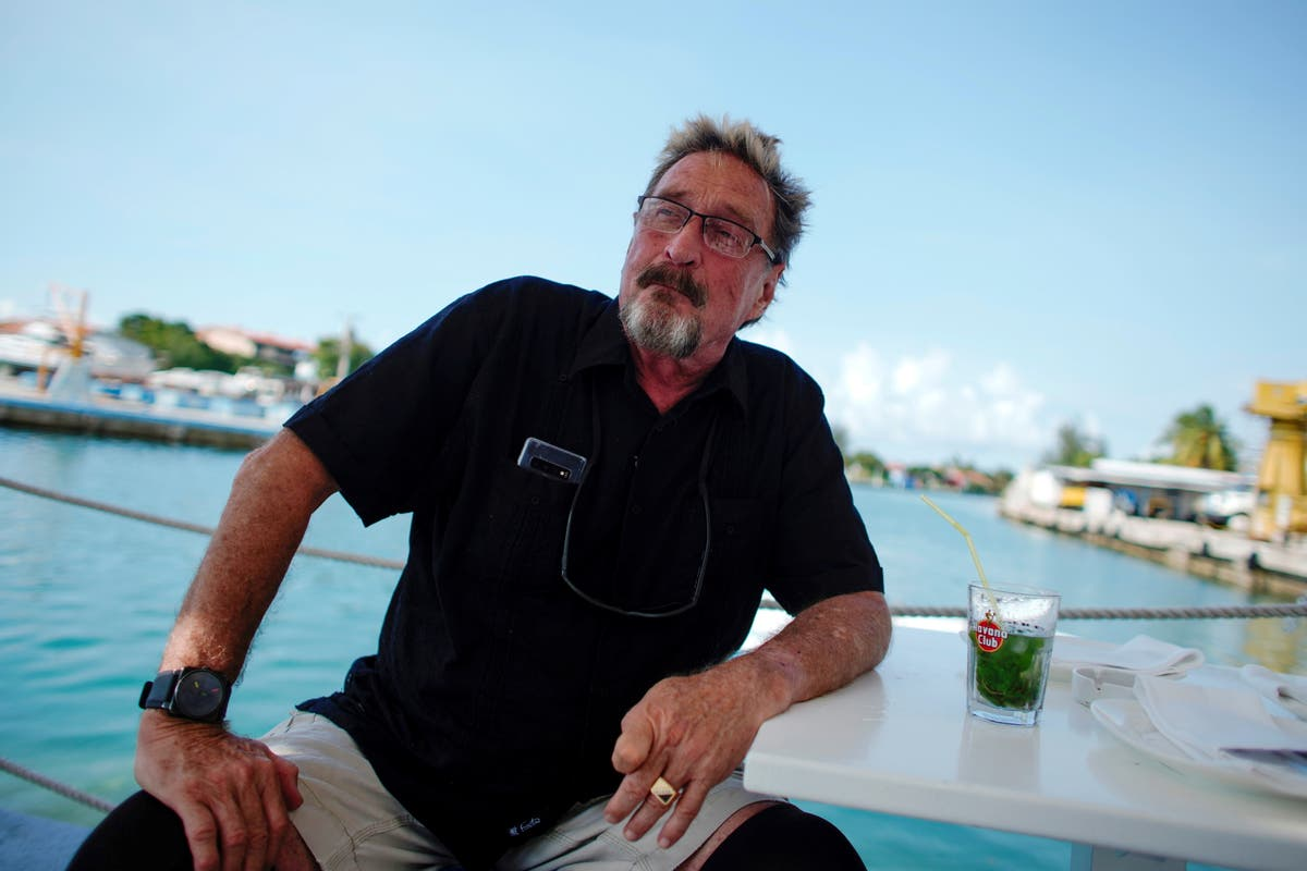 John McAfee's pinned tweet said he 'regrets nothing' days before his death