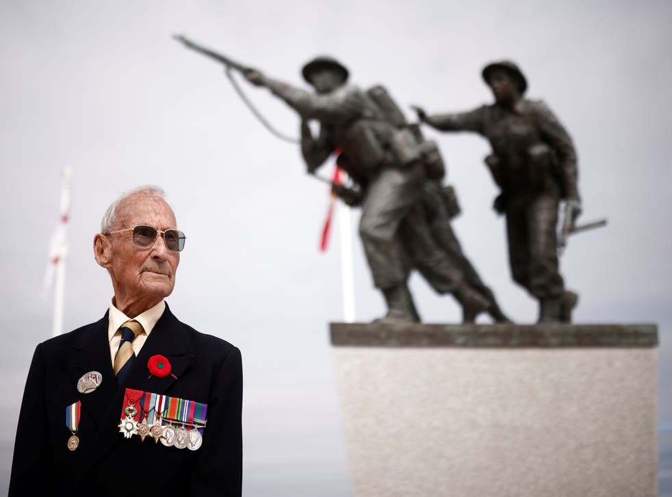 <p>David Mylchreest, a 97-year-old British veteran of the Normandy campaign, was the only veteran to attend the opening of the Normandy Memorial</p>
