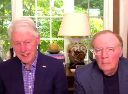 <p>Bill Clinton and James Patterson appear as guests on British morning show Lorraine.</p>