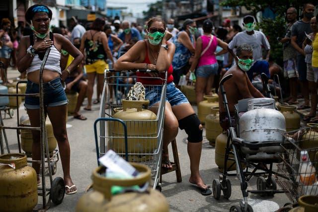 Virus Outbreak Brazil Pandemic Poor
