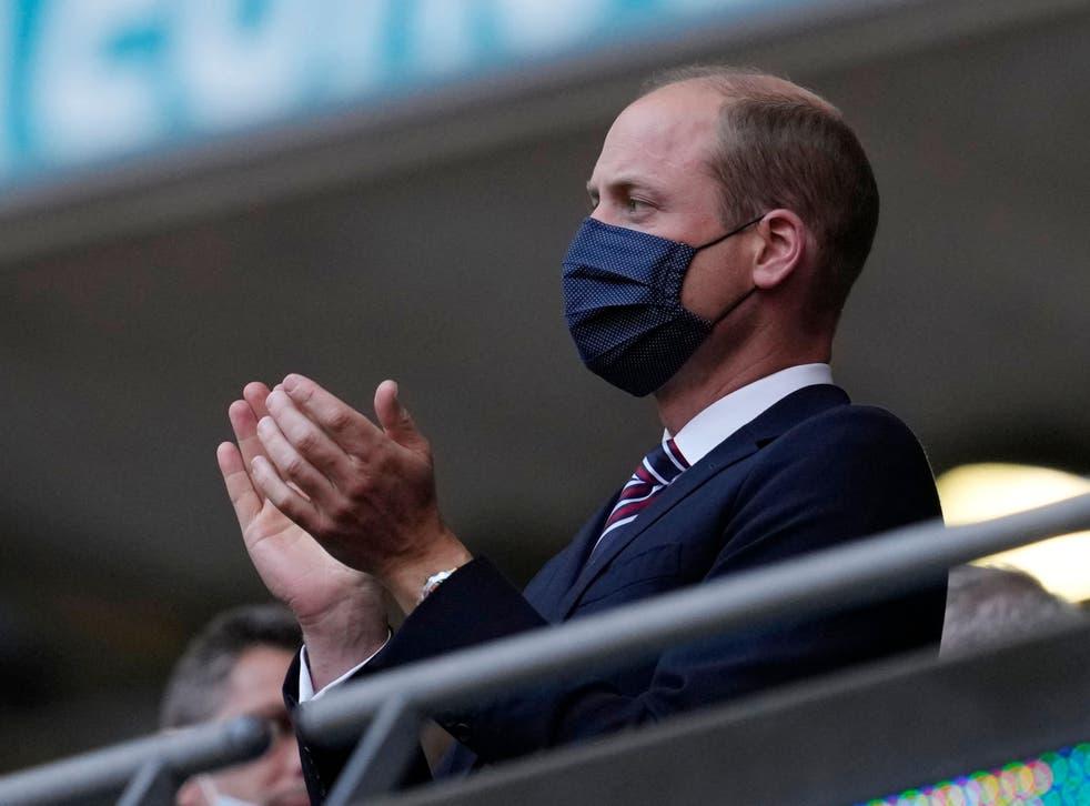 <p>Duke of Cambridge attends a UEFA Euro 2020 match</p>