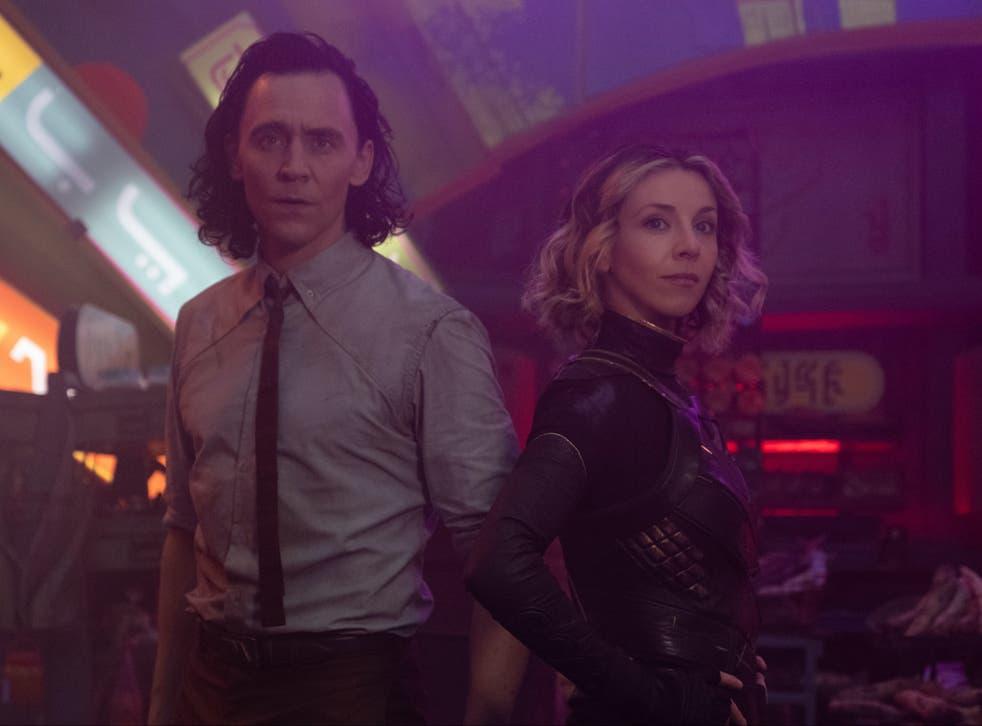 <p>Tom Hiddleston and Sophia Di Martino in 'Lamentis', the third episode of 'Loki'</p>