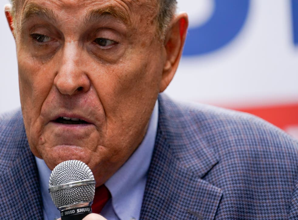 <p>Former New York City Mayor Rudy Giuliani during his work with former President Donald Trump.</p>