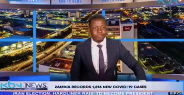 <p>KBN News presenter claiming on air on Saturday 19 June 2021 that he and his colleagues 'haven't been paid'</p>