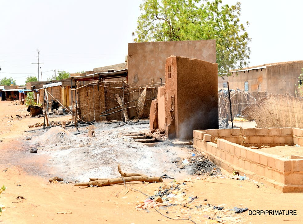<p>The village of Solhan was raided on 4 June</p>