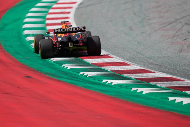 Red Bull driver Max Verstappen sets the pace while practicing for the Styrian Grand Prix