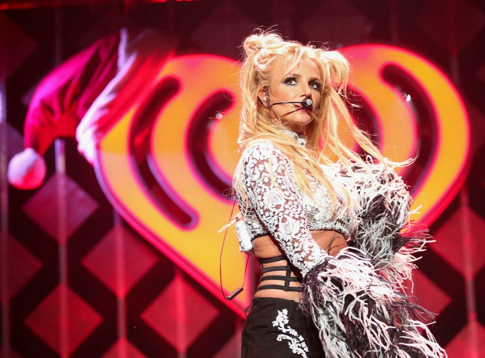 <p>Britney Spears performs at the Jingle Ball in 2016</p>