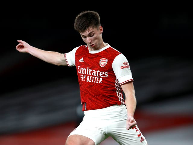 <p>Kieran Tierney has committed his long-term future to Arsenal</p>