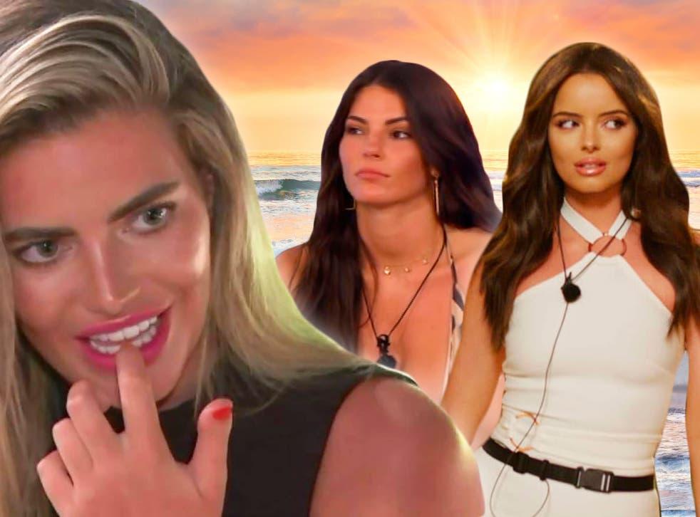 <p>'Love Island' stars Megan Barton-Hanson, Rebecca Gormley and Maura Higgins</p>