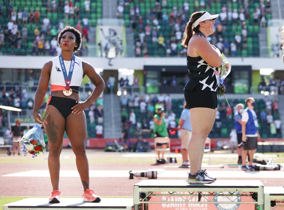 <p>Gwen Berry at the US Olympic Trials.</p>
