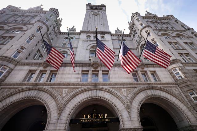 <p>El Trump International Hotel en Washington, DC</p>