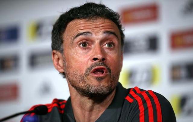 <p>Spain manager Luis Enrique was pleased with his side's showing</p>