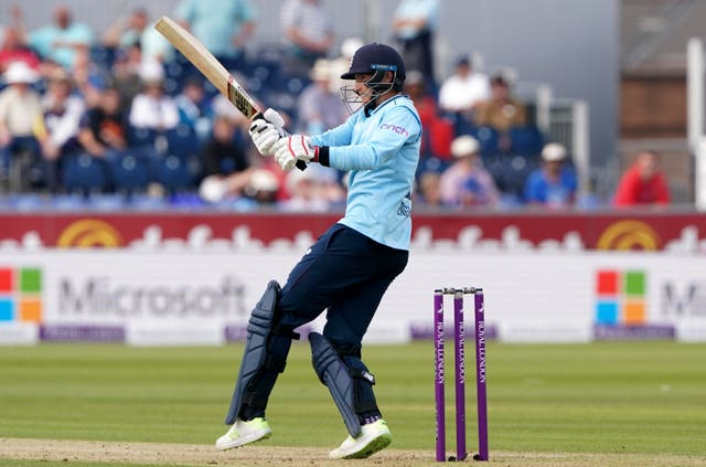 England's Joe Root bats during the first one-day international at Chester-le-Street