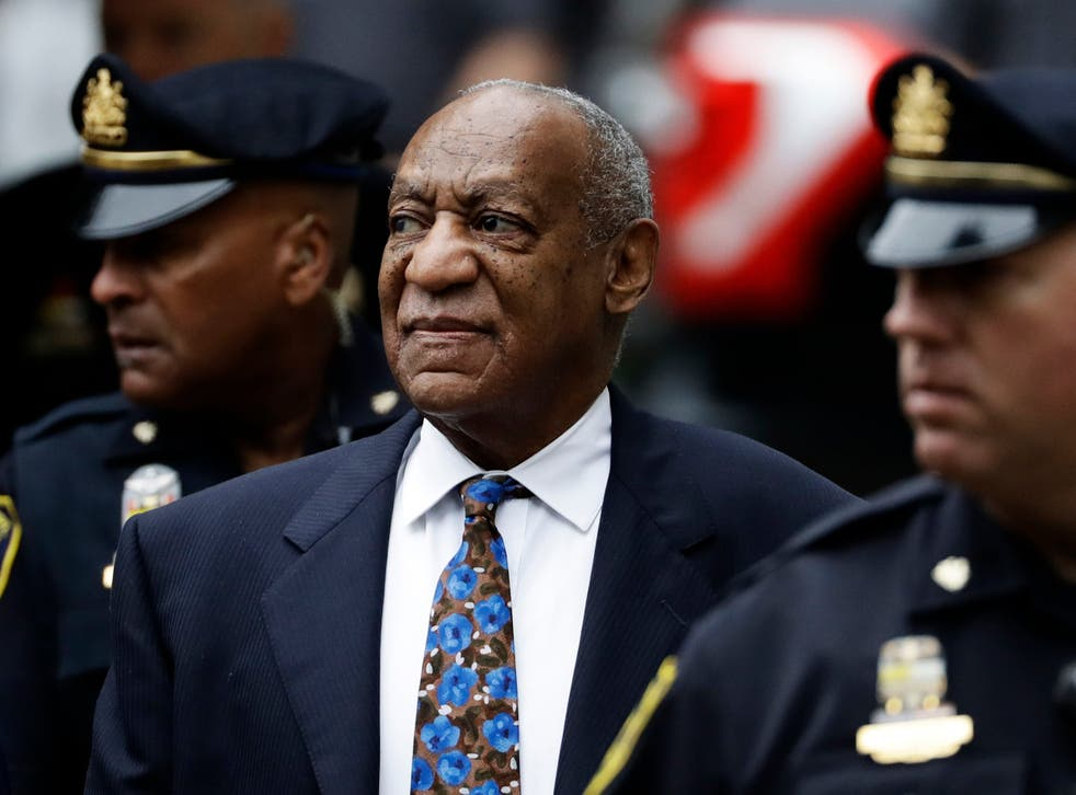 <p>Bill Cosby arrives for his sentencing hearing at the Montgomery County Courthouse, in Norristown, Pennsylvania, on 24 September 2018</p>