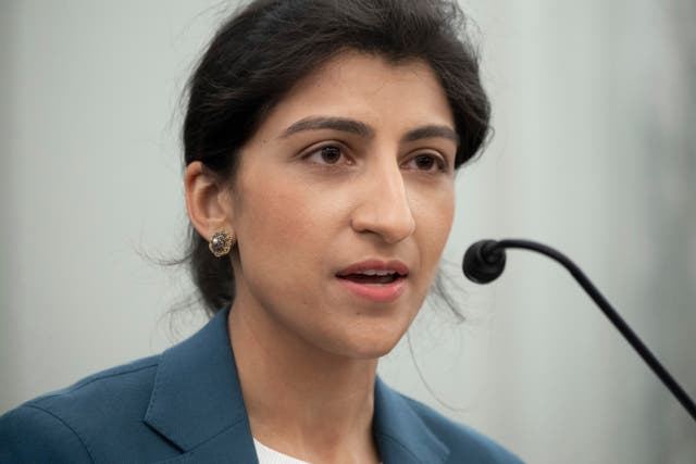 <p>Amazon claims the new head of the Federal Trade Commission, Lina Khan, cannot fairly regulate</p>