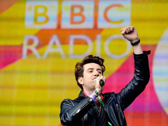 <p>Nick Grimshaw during Radio 1's Big Weekend in 2014</p>