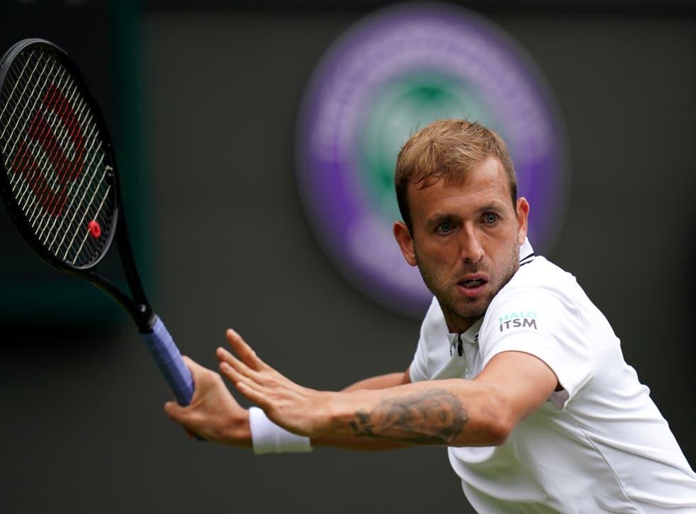 <p>Dan Evans impressed on his way to the third round at Wimbledon</p>