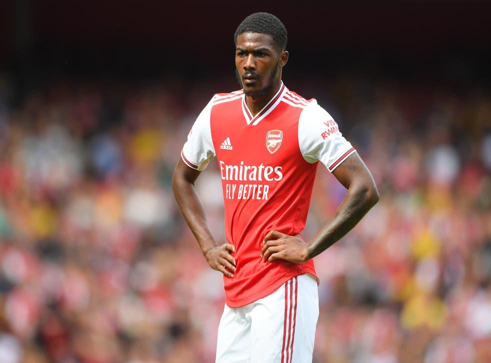 <p>Arsenal player Ainsley Maitland-Niles</p>