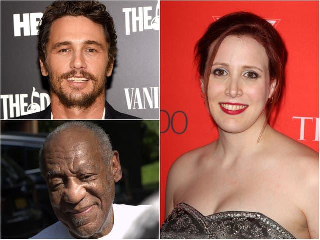<p>James Franco, Bill Cosby, Dylan Farrow</p>
